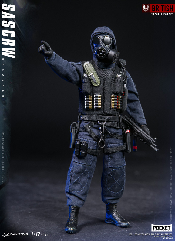 DAMTOYS 1//12 POCKET ELITE SERIES: SAS CRW  Breacher Tactical Vest Model