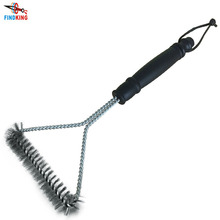 "12"" BBQ Grill Cleaning Brush BBQ tool Grill Brush with Plastic Handle"