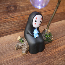 No Face LED Night Light Figure Studio Ghibli Miyazaki Hayao Spirited Away Anime Japanese Kaonashi Action Figuras Totoro kiki