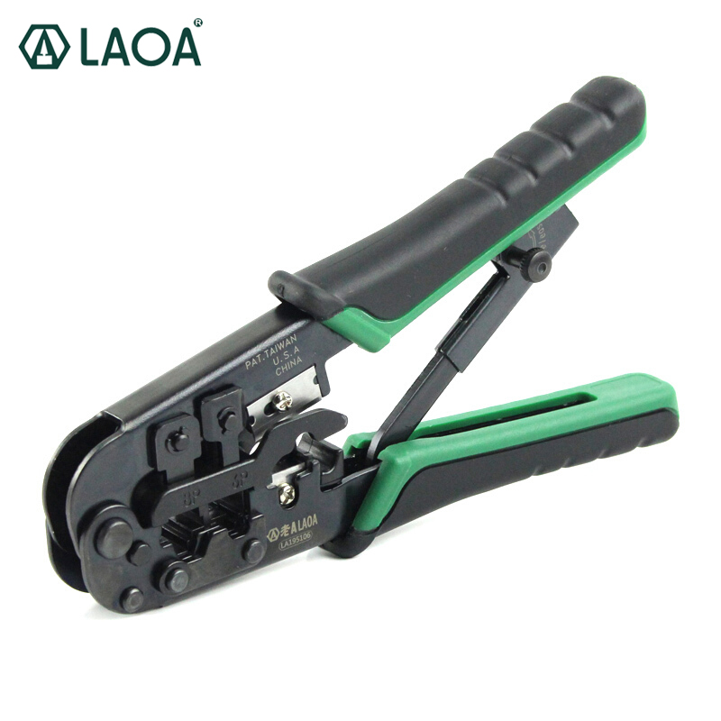 LAOA Taiwan made 4P/6P/8P Triple-purpose Ratchet Network Plier Crimping Plier<br>