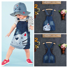 Cute Cartoon Cat Toddler Kids Baby Girls Summer Dress Princess Party Pageant Holiday Girls Tutu Dresses 2 3 4 5 6Y(China)