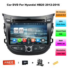 "7"" Octa Core Android 6.0 OS Special Car DVD for HB20 2012-2016 with 1024*600 Resolution & External OBD2 Adapter Support"