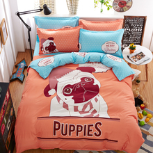 night tender puppies boys bedding set 4pcs duvet/doona cover bed sheet pillow cases queen double full size bed linen