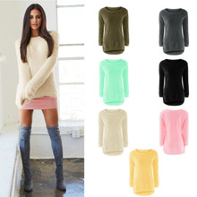 Fashion Sexy Ladies Sweater Coat Long Sleeve Soft Smooth Warm(China)