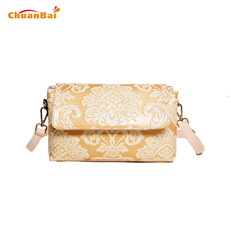 Hot Women Solid Shoulder Bags Witch Floral Flap Ladies Embossing Clutch Beige Vintage Leather Messenger Bag Crossbody Bags CB171<br><br>Aliexpress