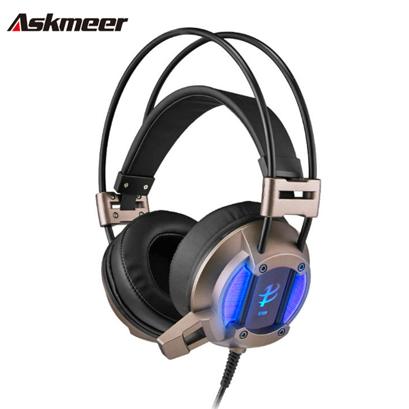 Askmeer G959 Wired Headband Stereo Gaming Headset PC Gamer Gaming Headphones with Microphones LED Noise Cancelling For Computer<br><br>Aliexpress