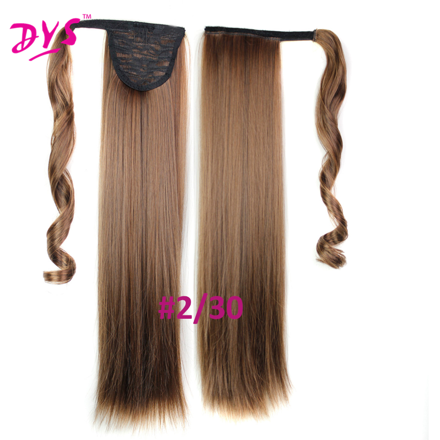 Deyngs 60cm Long Straight Clip In Hair Tail False Hair Ponytail Hairpiece With Hairpins Synthetic Hair Pony Tail Hair Extensions (16)