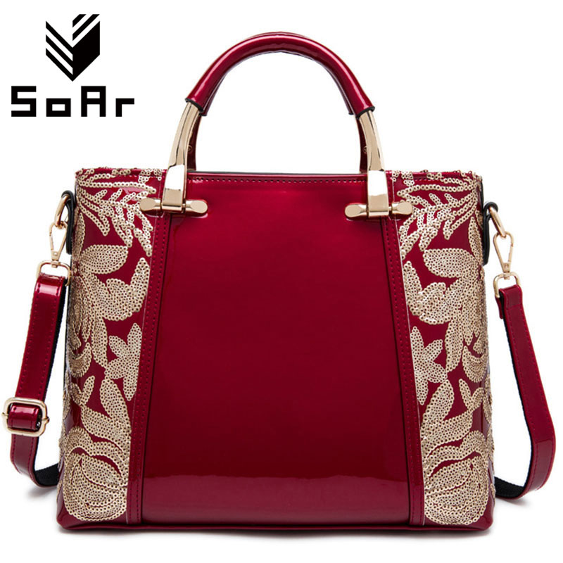 SoAr Women Bags 2017 Fashion Flower Famous Brand Shoulder Bag Women Messenger Bags Designer Handbags Leather Ladies Totes 5<br>