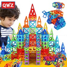 QWZ Hot Sale 252pcs Magnetic Blocks Mini Magnetic Designer Construction 3D Model Educational Toys For Children Christmas Gifts