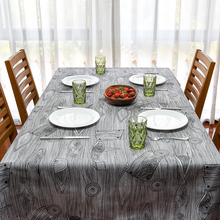 2017 New Spring Linen Table Cloth Geometric Wood Grain High Quality Tablecloth Table Cover manteles para mesa Free Shipping