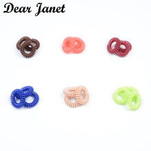 1box 3.5cm Fashion Cute Candy Color telephone line hair gum styling tools headwear Free shipping