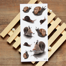 3D Snails Fake Tattoo Decals Temporary Tattoo Body Art Flash Tattoo Stickers Waterproof For Women Men #026(China)
