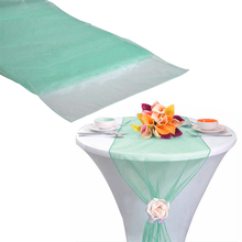 "12""x108"" / 30*275cm 10pcs High Quality Mint green Table Runner for Wedding decoration Banquet Venue Decoration(China)"