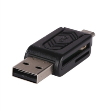 2 in 1 USB OTG Card Reader Micro USB OTG TF/SD Card Reader Phone Extension Headers Flash Drive Adapter For Smartphone PC 4 Color