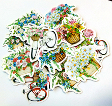 15pcs Creative Cute kawaii self-made bicycle flower floats scrapbooking /decorative stickers/DIY craft photo albums/trunk