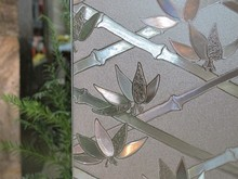 90cm width UV Static Cling High Quality Decorative Stained Glass Film Privacy Film window(China)