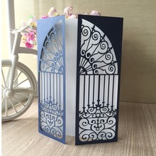 30pcs Royal Blue Laser Cut Inviting Card Paper Party Event Supplies Decoration Romantic Birthday Wedding Invitation Cards(China)