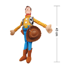 Toy Story WOODY Action Woody Toy figure PP Cotton Plush Model Toys For Children Christmas Gift 43cm