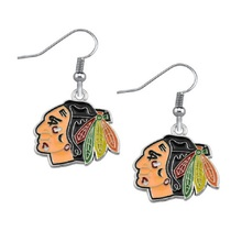 5 Pairs NHL Fans Earrings Alloy American Hockey Chicago Blackhawks Charm Drop Earrings