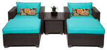 2017 Patio Furniture 5 Piece Outdoor Wicker Patio Sofa Lounge Set