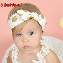 Hot Elastic Gilding Bowknot hadbands girl hair accessories Girl headband cute hair band floral headband WJul26 Drop Shipping