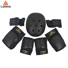 LANOVA 7pcs/Set Protective Gear Knee Elbow Pads Wrist Protector Protection Skate Helmet For Scooter Cycling Roller Skate 4 Size