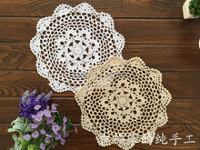 free shipping ZAKKA 12 pic/lot 28cm Round cotton knitted napkins for home decor lace palcemat coaster crochet doilies cup pads