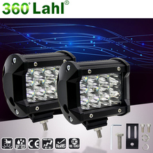 "3.8"" 36W 6000K Day Light LED Offroad Bar Luz de trabajo Barra conduziu For Ford Jeep Motorcycle ATV UTV SUV Truck Boat(China)"