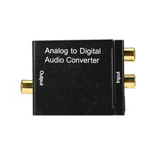 Analog to Digital Audio Connector L/R to Digital SPDIF Coaxial RCA and Optical Toslink R/L Input to Coaxial and Toslink Outputs(China)