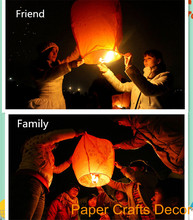 10pcs/lot Oval Shape Flame Resistant Flying Lamp Biodegradable Paper Wishing Sky Lantern For Wedding Party Decoration(China)
