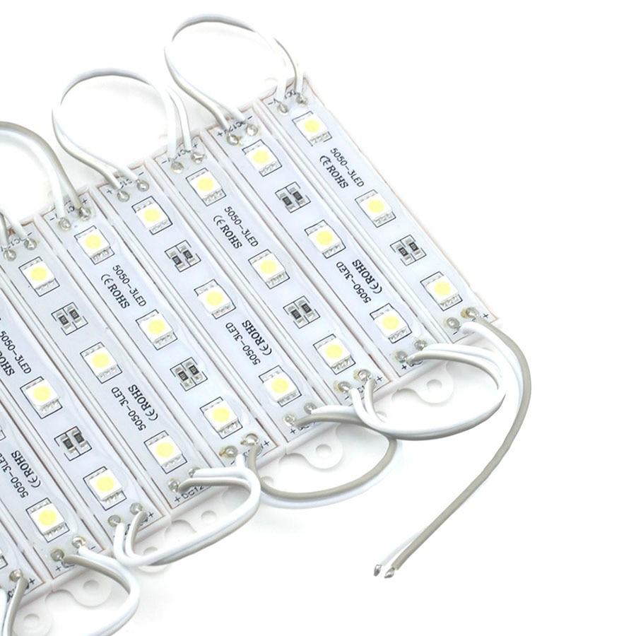 20PCS 3LEDs SMD 5050 LED Modules Light DC12V Waterproof Lamp Backlight for Billboard Advertising Light Warm White Red Green Blue (22)