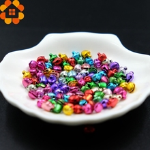 New Arrival!100PCS 6MM Colorful Small Jingle Bells Iron Loose Beads Festival Party Home Christmas Decorations/DIY Accessories