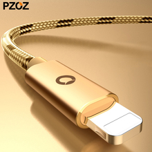 Pzoz 2.4A for iphone cable fast charger usb cabel original short cord for apple ipod lighting iphone6 7plus cable wire 1m 2m 6 7(China)