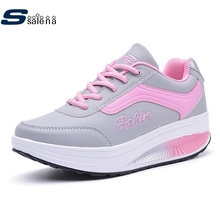 Authentic women running shoes women outdoor sneakers breathable leather walking shoes non slip resistant sports shoes #B2127