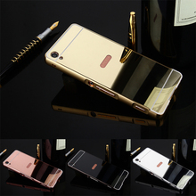 Buy Luxury Gold Plating Armor Aluminum Frame + Mirror Acrylic Back Cover Phone Case Sony Xperia XA Set Hot Phone Bag for $3.63 in AliExpress store