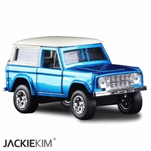 High simulation 1:32 Scale Blue JADA Ford 1973 BRONCO Alloy Model Car High quality toy model For Baby Gifts Free Shipping(China)