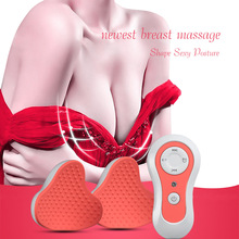 New Breast Enlargement Machine Bigger Electric Nipple Breast Massager Shock Device Enhancer Chest Bra Breast Massage Stimulator(China)