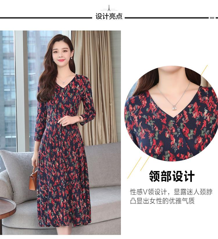 Autumn Winter New 3XL Plus Size Vintage Midi Dresses 2018 Women Elegant Bodycon Floral Dress Party Long Sleeve Runway Vestidos 14 Online shopping Bangladesh