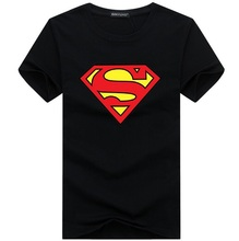 Free Shipping New 2016 Fashion Brand T Shirts for Men Flash Superman Printing Male O Neck Hip Hop T Shirts Men's Clothing S-5XL