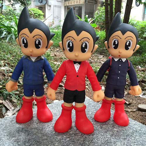 Anime Astro Boy Figure Toys Tetsuwan Atom Jeans /World ASTRO BOY PVC Action Figures Toy Christmas Gifts With Retail Box<br>