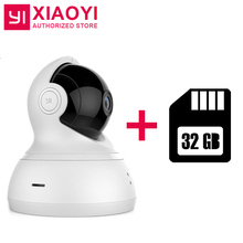 "720P HD Xiaoyi YI Dome IP Home Camera+32G Card 112"" 360 Degree PTZ Smart WiFi Webcam Night Vision [International Edition]"