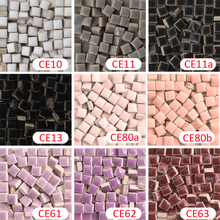 200 gram/205 pcs 10 X 10mm white black gray pink purple Ceramic Mosaic Tile, 1 X 1cm DIY Mosaic Tile, DIY Mosaic Art Supplier