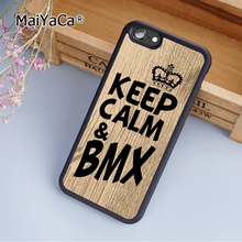 MaiYaCa Keep calm & BMX Biker cycling fashion soft mobile cell Phone Case Cover For iPhone 6 6S Custom DIY cases luxury shell(China)
