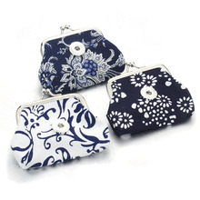 2 PCS/lot 18MM Chinese style Snap Buttons Jewelry Coin Purses Small Wallets Pouch Women's Money Bags For Gift 2179(China)