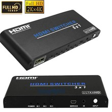 UHD 3X1 5x1 HDMI Switch HDMI 2.0 Port HDMI Switcher Audio video Converter 4KX2K 3D 1080p with IR remote support HDCP2.2 for HDTV