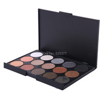 15 Colors Glitter EyeShadow Natural Three Different Styles  Earth Color Matte Pigment Cosmetic Ladies Makeup Eye Shadow Palettes