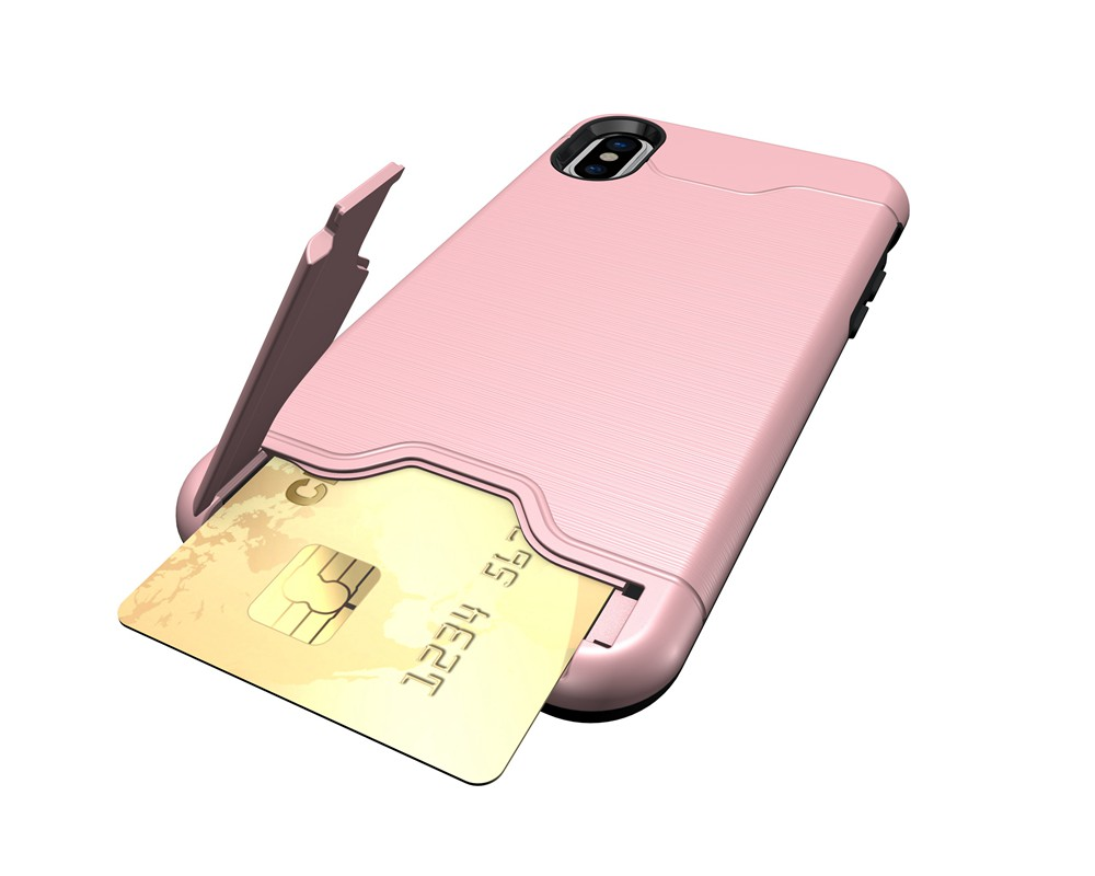 KEYSION Case For iphone X Shockproof cover for iPhone X Kickstand Armor Phone Bag Cases For iphone 10 Card Holder Coque 20