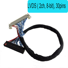 FIX30pin dual 8 lvds cable 17-24inch General LCD line With card buckle LVDS ( 2 ch, 8-bit) , 30 pins(China)