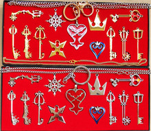 Action Figures 13pcs/set Kingdom Hearts II KEY BLADE Necklace Pendant+Keyblade+K