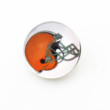Glass Cleveland Browns NFL Team Snap Button 18mm Sports Ginger Snaps Bracelets&Bangles Jewelry